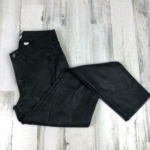 J Crew faux leather pants black size 27